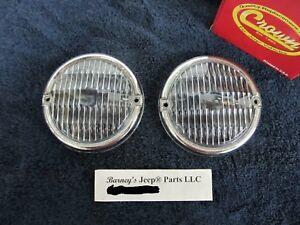 FITS Jeep CJ5 CJ7 CJ8 SCRAMBLER FRONT PARKING LAMP LENS PAIR (LENSES  ONLY) NEW!