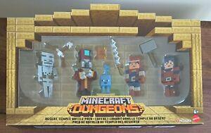 NEW Minecraft 3.25 DUNGEONS Desert Temple Battle Bundle Action Figures by Mattel