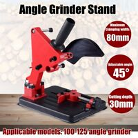 45° Angle Grinder Stand Metal Cutting Fixing Clamp Holder Bracket Support Tool