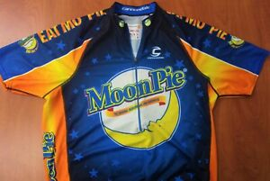 Rare Cannondale Moon Pie Authentic Performance Cycling Jersey L