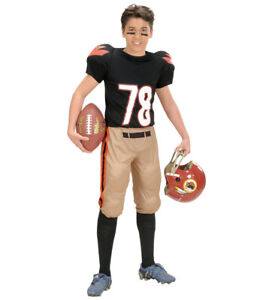 Boys American USA Football Player Sport Fancy Dress Costume Ages 5-13