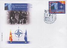 MACEDONIA 2019 FDC 70 Years NATO 1v #B