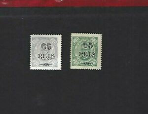 Angola sc#72,73b (1902) MH