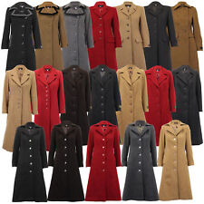 Ladies Wool Cashmere Coat Women Jacket Outerwear Trench Overcoat Winter Lined