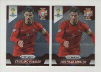 2014 Panini Prizm World Cup Soccer / 2 Base cards #161 Cristiano Ronaldo