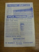 15/12/1945 Stockport County v Southport [Division 3 North West] (some tears/nick