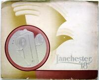 LANCHESTER 18 - Car Sales Brochure - circa 1936 - #404-1 to #404-12
