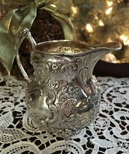 Old 800 Silver Creamer Manns Adam & Sons