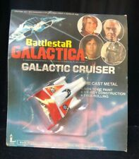 Battlestar Galactica Galactic Cruiser Die Cast Metal Orange Larami 8425 1978 Noc
