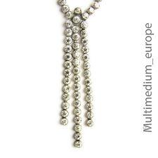 ART DECO strass collier argent 935 30er Ans silver necklace Pâte
