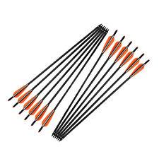 22Inch Crossbow Bolts Fiberglass Arrows Changeable Points Practice Bolts 6Pcs