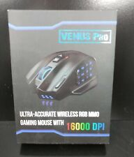 NEW UtechSmart Venus Pro RGB Wireless MMO Gaming Mouse 16000 DPI Optical Sensor