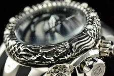 Invicta Men 52mm Venom Subaqua Dragon Scale Swiss Mvt  Silver Black Chrono Watch