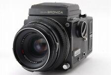 Zenza Bronica ETR W/ Zenzanon MC 75mm f/2.8,120 Film Back From Japan 【VERY GOOD】