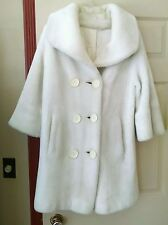 Vintage Faux Fur Coat, size S-M, By Glenara, Off White