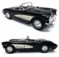 1957 Chevrolet Corvette Black 1/18 Diecast Car By Maisto Special Edition 31139BK