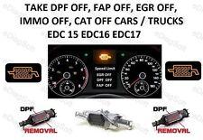 TAKE DPF OFF, FAP OFF, EGR OFF, IMMO OFF, Cat OFF CARS / TRUCKS EDC16 EDC17 2013