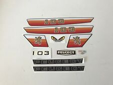Autocollant Peugeot 103 MVL REF:MOB080