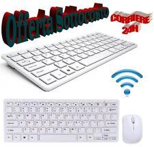 KIT TASTIERA E MOUSE WIFI WIRELESS PER PC 2.4 GHz KEYBOARD USB SENZA FILI -MNT-