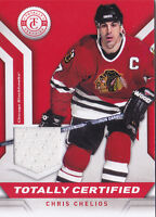 13-14 Totally Certified Chris Chelios Jersey Blackhawks Panini 2013