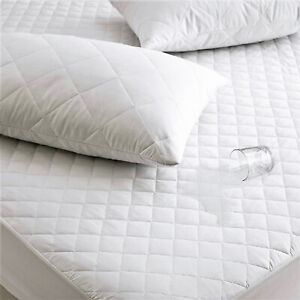 """Luxury Extra Deep 16"""" Waterproof Quilted Mattress Bed Protector Cover Topper"""