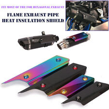 Carbon Fiber Colorful Motorcycle Exhaust Muffler Pipe Heat Shield Cover Guard
