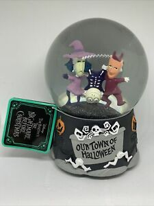 Officially Licensed Nightmare Before Christmas Lock, Shock and Barrel Snow Globe