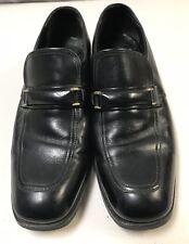 faab5214c50 Vintage FLORSHEIM black leather MAN MADE loafers mens size 7.5 D