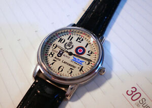 RAF Royal Air Force Lancaster Bomber Wrist Watch. Rolls Royce Merlin WW2.