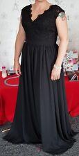 Black lace chiffon dress size 14/16. worn once. Bridesmaid prom cocktail