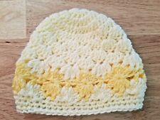 New! Handmade Crochet Baby Beanie  - Preemie 0 - 6 months, yellow