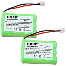 2-Pack Hqrp Battery for At&T E6014B, Sb67118, Tl70008, Tl71108, Tl71208, Tl71308