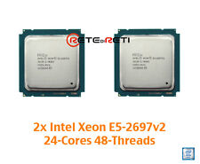 € 3620+IVA 2x INTEL CPU Xeon E5-2697v2 12C 2.7GHz 30M HT 24-Threads - GENUINE