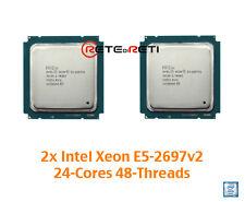 € 3620+IVA 2x INTEL CPU Xeon E5-2697v2 12C 2.7GHz 30M HT 24-Threads - GENUINE