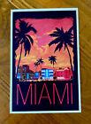 South Beach Miami, Florida - Neon Buildings - Lantern Press postcard