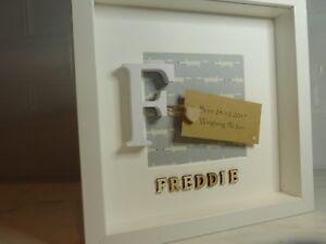 Personalised Box Frame New Baby, Christening, Boy & Girl Gift/Keepsake Birthday