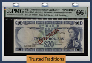 Fiji  $50  1970-2020  Specimen  Series  FAI  Uncirculated Banknote
