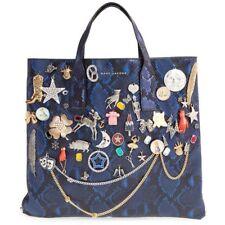 6a71bfd551b0 Marc Jacobs Cobalt Snake Multi Snake Embellished Wingman Shopping Bag RARE!