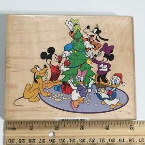 DISNEY Mickey Mouse Christmas Tree Trimming Rubber Stamp