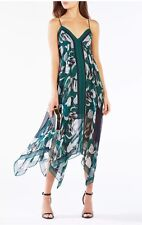 NWT Bcbgmaxazria Isabela Handkerchief Hem Midi Cocktail / Evening Dress Size XS