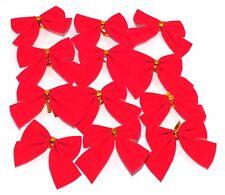 12x Albero di Natale Fiocco Decorazione Palline Festa Giardino Ornamento Rosso