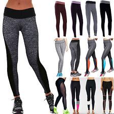 Women Sport Gym Yoga Workout High Waist Running Pants Fitness Elastic Leggings
