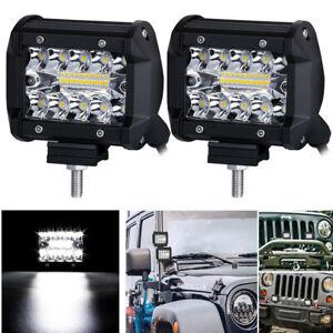 2x 4'' LED Work Light Bar Spot Flood Truck ATV Boat 4xc4 Driving Fog Lamps IP68