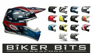 BELL MX 2021 Moto-9 Flex Kopf Schutz Composite Carbon Gehäuse Motocross Helm