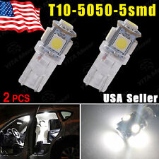 2PCS HID White LED T10 2825 168 158 5-SMD Dome Wedge License Plate Light Bulbs
