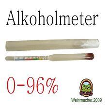 Alkoholmeter + Messzylinder 0-96% Hydrometer Alkoholometer Alkohol Bimber