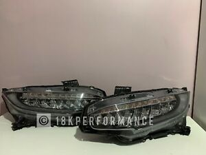 GENUINE HONDA CIVIC TYPE R FK8 FULL LED HEADLIGHTS PAIR 2017-2018-2019-2020-