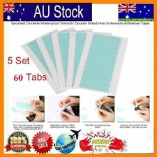 60tabs Super Strong Blue Double Sided Tape Adhesive Skin Tape Hair Extensions B