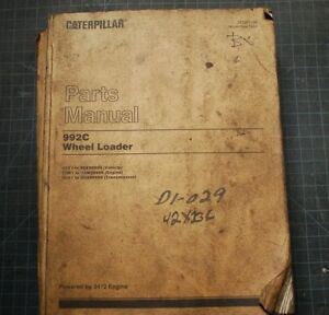 CAT Caterpillar 992C Wheel Loader Parts Manual Book 1984 42X factory spare list