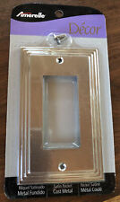 NEW in PKG: Amerelle Decor Collection Cast Metal Switch Plate Wall Plate #84RN